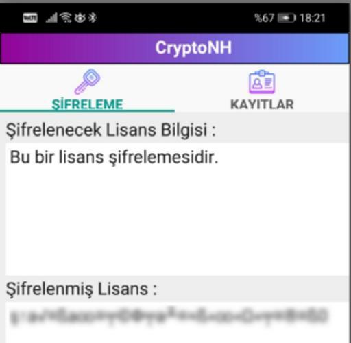 CryptoNH Lisans Şifreleme