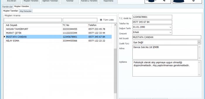 PoligoHN Atış Yönetim Yazılımı